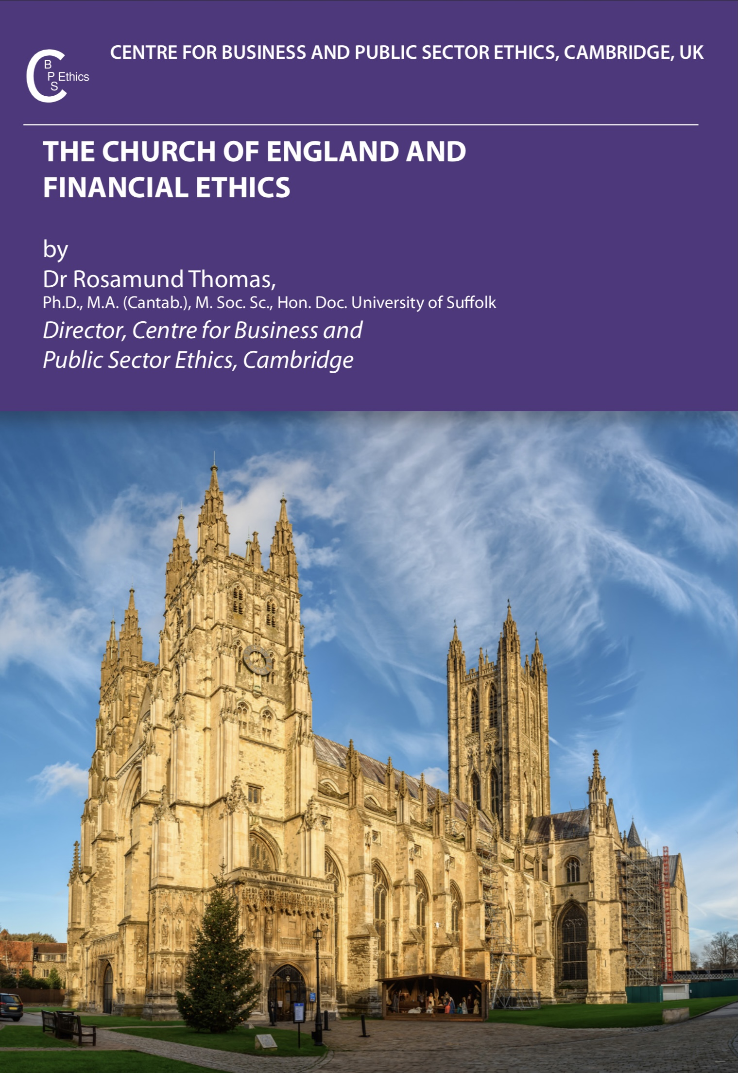 The Church of England and Financial Ethics